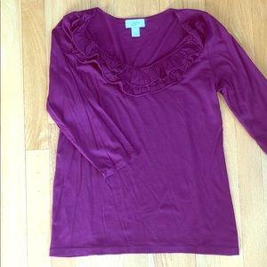 Purple Loft blouse